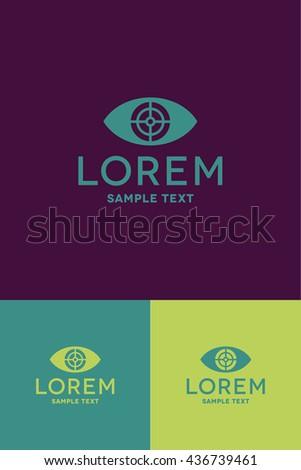 Minimal Logo - Eye   - stock vector