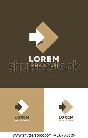 Minimal Logo - Paper   - stock vector