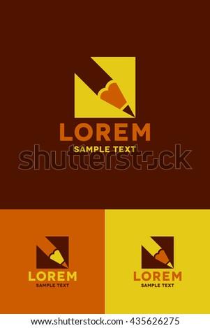 Minimal Logo - Pencil   - stock vector