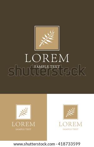 Minimal Logo - Plant   - stock vector