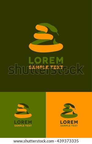 Minimal Logo - Snake - stock vector
