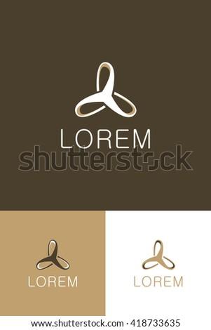 Minimal Logo - Spiral   - stock vector