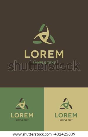 Minimal Logo - Triangle  - stock vector
