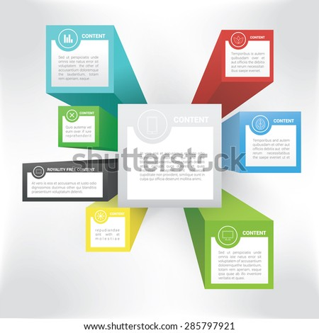 Minimal Pamphlet Concept Art Vector  - stock vector