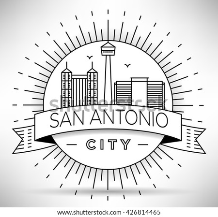 San Antonio Skyline Stock Images Royalty Free Images
