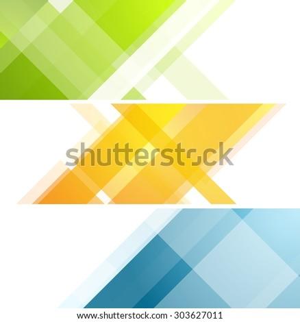Minimal tech geometric banners. Vector art design illustration - stock vector