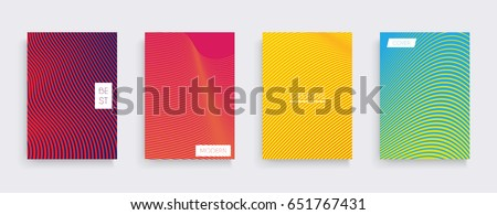 Minimal vector covers design. Cool gradients. Future geometric template.