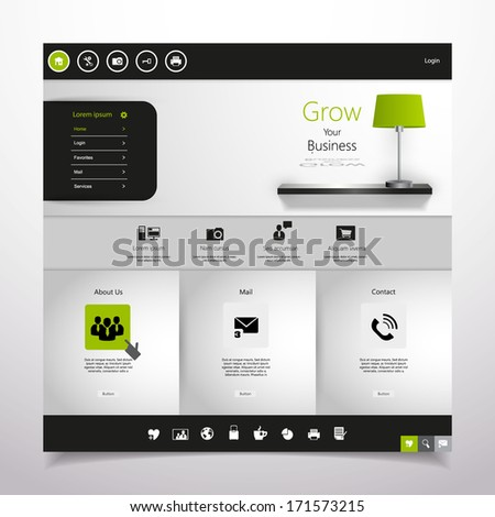 Minimal Website  - stock vector