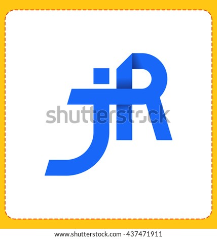 minimalist and modern two letter composition for initial, logo or signature started by j letter