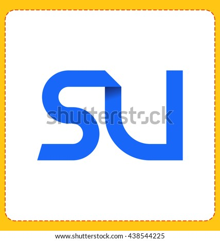 minimalist and modern two letter composition for initial, logo or signature started by S letter