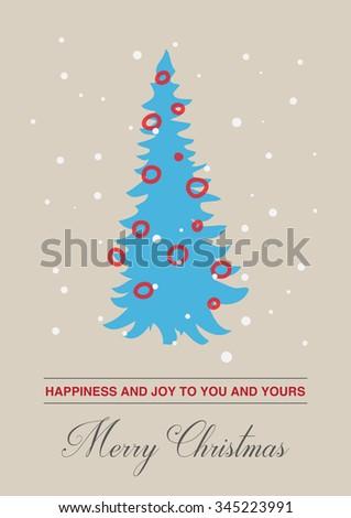 minimalist christmas card stock vector royalty free 345223991