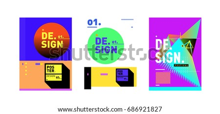 minimalist vector covers design set cool stock vector royalty free