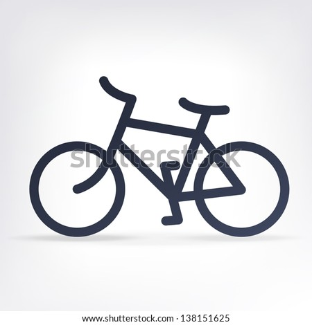 Minimalistic bicycle icon. Vector, EPS10 - stock vector
