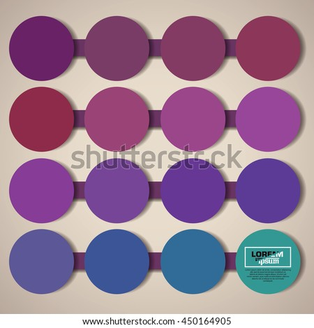 minimalistic circles concept background - stock vector