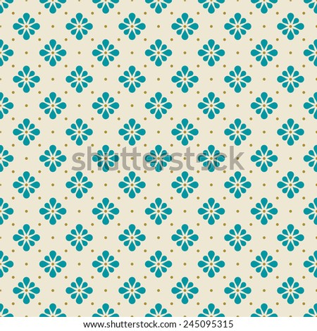 minimalistic floral pattern. simple seamless minimalistic floral pattern. - stock vector