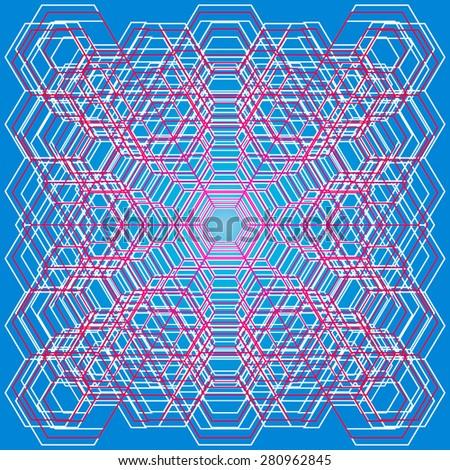 Minimalistic geometric hexagon pattern. Concept vector background. - stock vector