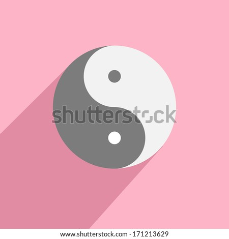 minimalistic illustration of a yin yang symbol - stock vector