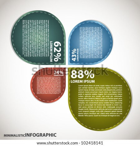Minimalistic Infogaphic.Presentation. - stock vector