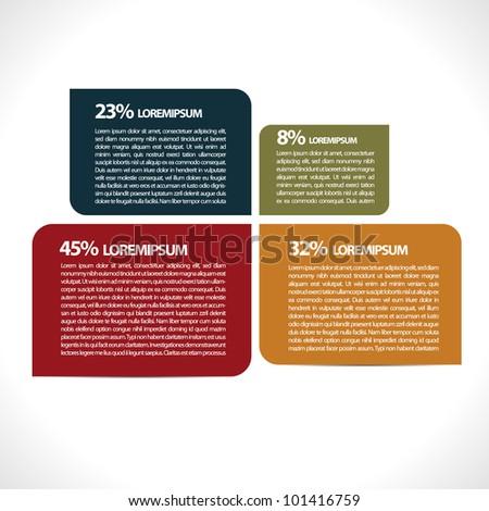 Minimalistic infographic - stock vector