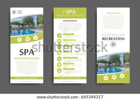 spa brochure templates - minimalistic spa healthcare brochure design creative stock
