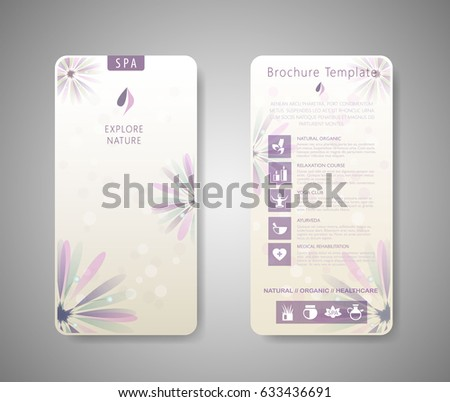 Spa Brochure Stock Images, Royalty-Free Images & Vectors