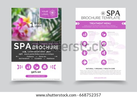 Minimalistic Spa Healthcare Design Brochure Creative Stock Vector