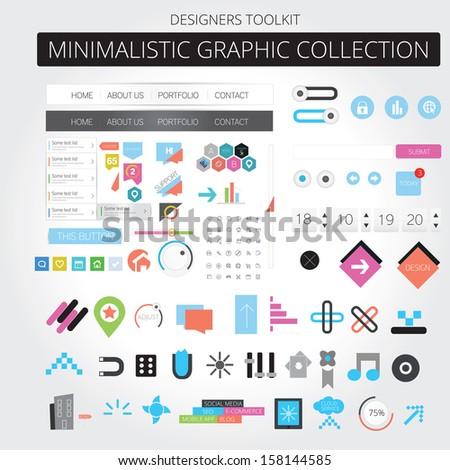 Minimalistic web graphics - stock vector