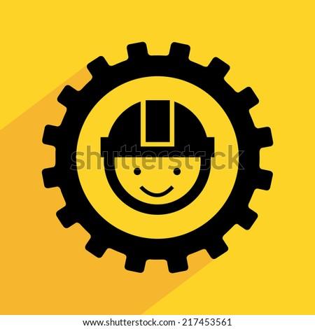mining work design ,vector illustration - stock vector