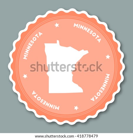 Minnesota Vector Map Stamp Retro Distressed Stock Vector - Us state sticker map