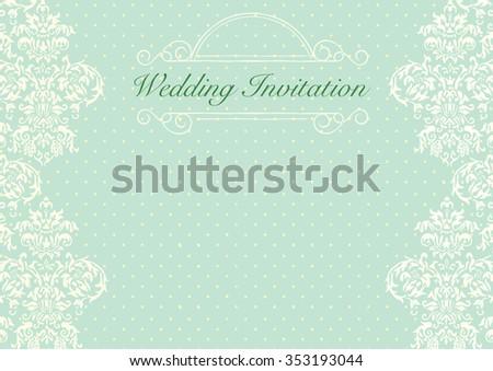 Mint Green Wedding Invitation Background