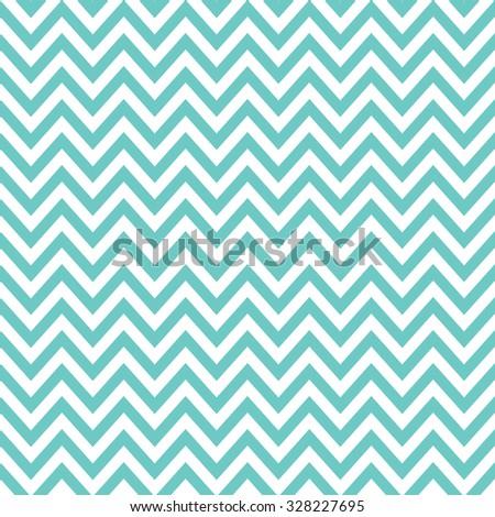 mint & white chevron pattern, seamless texture background - stock vector