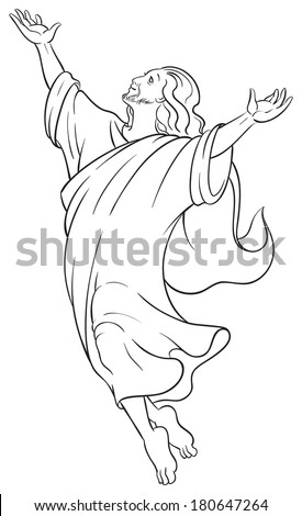 miracles jesus ascension christian easter holiday stock vector