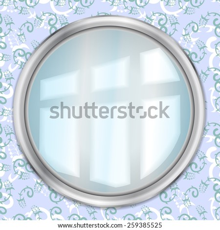 Mirror On The Wall - stock vector
