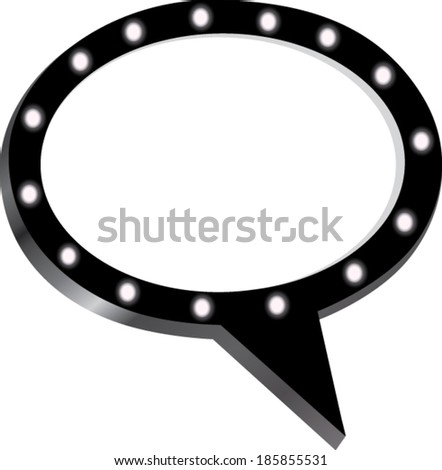 Mirror Speech bubble blank - stock vector