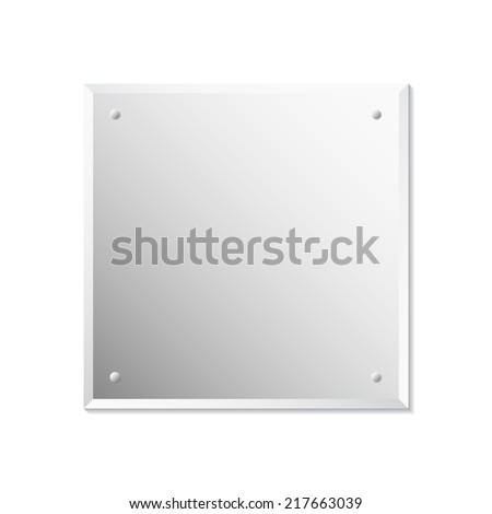 Mirror, vector illustration - stock vector