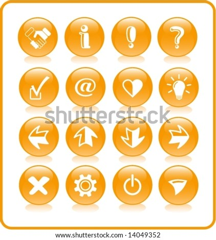Miscellaneous signs vector iconset - stock vector