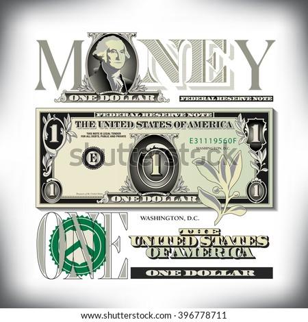 Miscellaneous US bill elements - stock vector