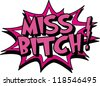 miss - stock vector