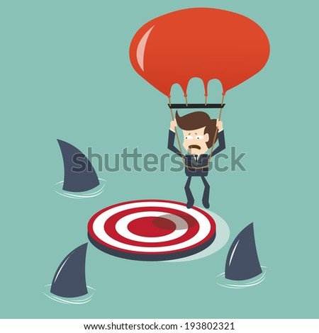 Missed Target  concept - stock vector