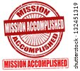 Mission Accomplished grunge rubber stamps, vector illustration - stock vector