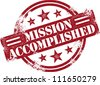 Mission Accomplished Reward Stamp - stock photo