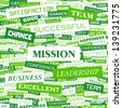 MISSION. Word cloud concept illustration. - stock photo