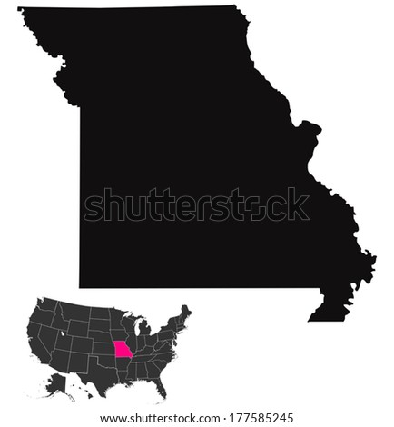 missouri map  - stock vector