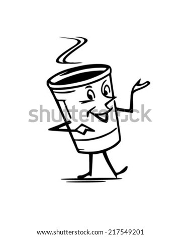 Mister Coffee - Retro Clipart Illustration - stock vector