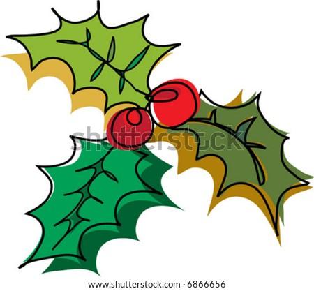 Mistletoe Christmas Decor. - stock vector