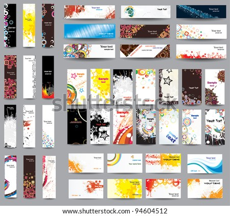 Mix collection banners and business cards . - stock vector