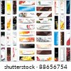 Mix Collection vertical and horizontal banners - stock photo