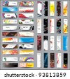 Mix Collection vertical and horizontal headers - stock photo