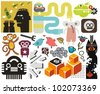 Mix of different vector images and icons. vol.53 - stock vector