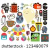 Mix of different vector images and icons. vol.64 - stock vector